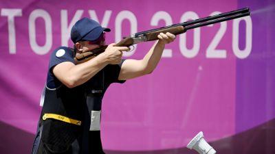 Eetu Kallioinen skjuter i OS.