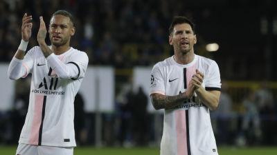 Neymar och Lionel Messi blev på noll mot Brugge.
