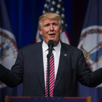 Donald Trump vid ett kampanjtillfälle i Virginia den 2 augusti 2016.