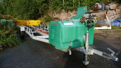 mekanisk grön båttvätt för båtar.