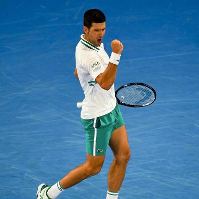 Novak Djokovic imponerade i herrsingelfinalen.