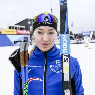 Anita Korva under FM i Vanda.