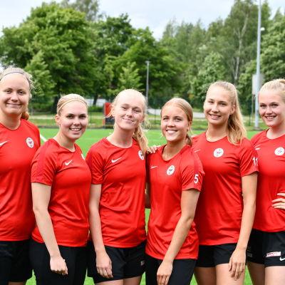 De sex finlandssvenskarna i PK-35:s ligalag.