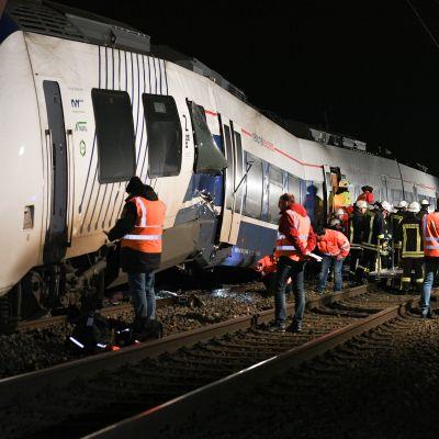 Passagerartåg skadades i Meerbusch i Tyskland