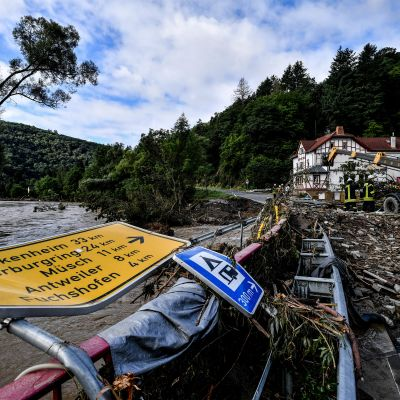 Översvämningarna i tyska byn Schuld.