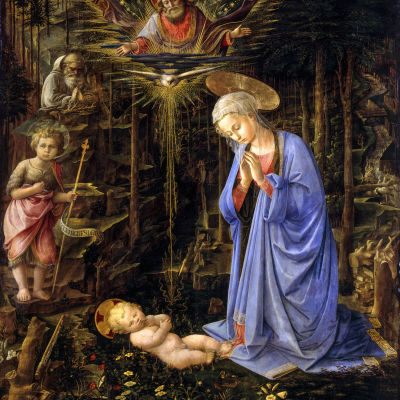 Fra Filippo Lippin teos Adorazione del Bambino