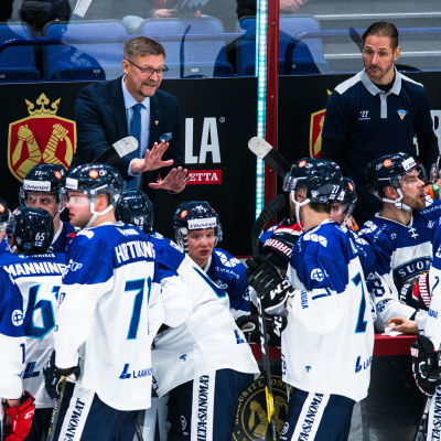 Finlands ishockeylejon i Helsingfors.