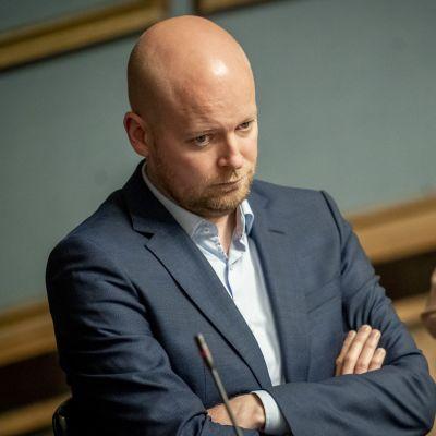 Jussi Saramo eduskunnassa 12.9.2019