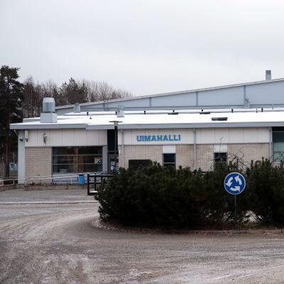 Pieksämäen uimahalli joulukuussa 2020.
