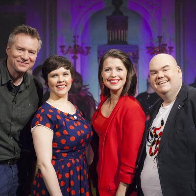 Mårten Svartström, Erica back, Eva Frantz och Johan Lindroos.
