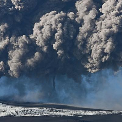 Vulkanutbrott på Island.