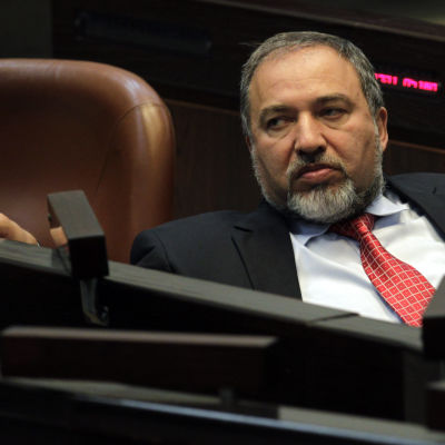 Avigdor Lieberman i Knesset 2012