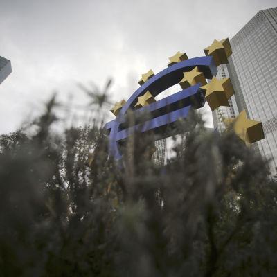 ECB:s huvudkontor i Frankfurt den 26 oktober 2014.