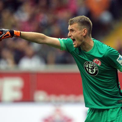 Lukas Hradecky höll Bayern på noll i Bundesligan.