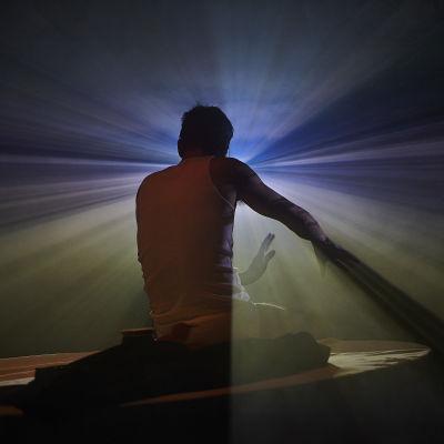 Scen ur föreställningen Just filming.