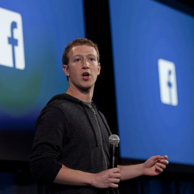 Facebooks vd Mark Zuckerberg.