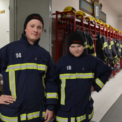 William Sandström och Rasmus Korander.
