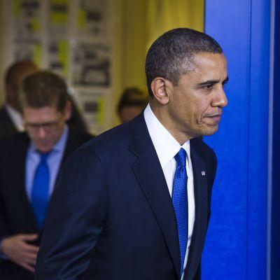 Obama på väg att hålla ett tal om det ekonomiska läget i USA.