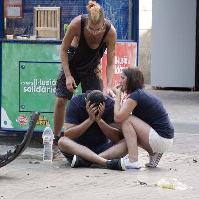 Chockade turister på La Rambla