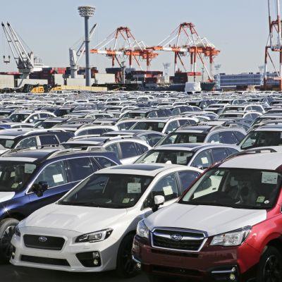 Japanska bilar som ska exporteras