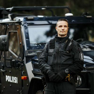 Överkonstapel Mika Vainioranta på Polisinrättningen i Österbotten är årets polis 2020.