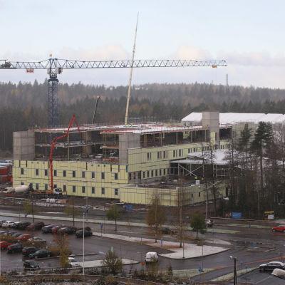 Ratamon sairaalan työmaa Kouvolassa.