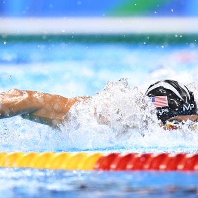 Michael Phelps Rion olympiakisoissa 2016.