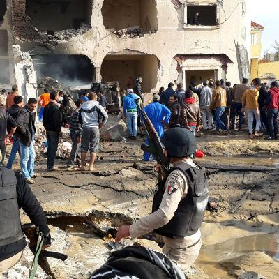 Arkiv. Minst sex personer dödades i en bombattentat mot en polisstation på Sinaihalvön den 12 april 2015.