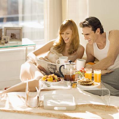 morgonmål i sängen