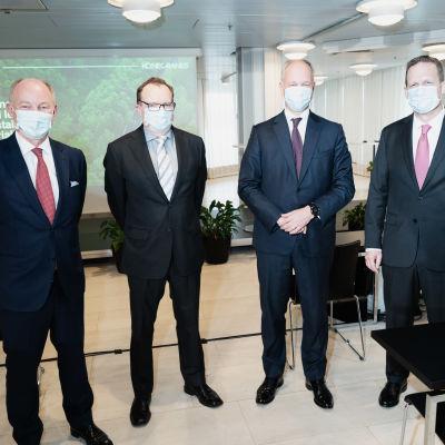 Konecranesin ja Cargotecin fuusio Finlandiatalossa, info.