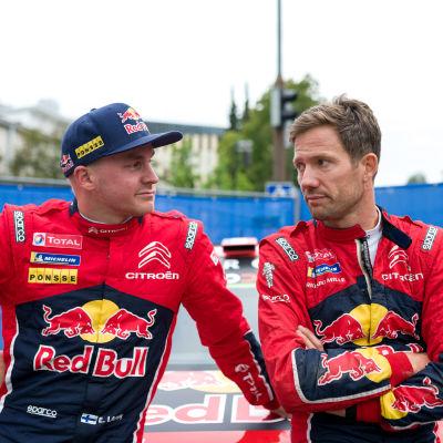 Esapekka Lappi och Sebastien Ogier.