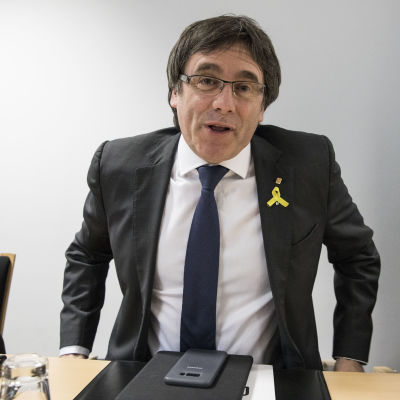 Carles Puigdemont i Berlin den 5 maj 2018.