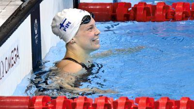 Fanny Teijonsalo efter målgång i OS.