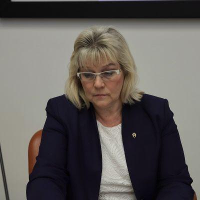 Maire Ahopelto Kainuun yhtymävaltuuston kokouksessa