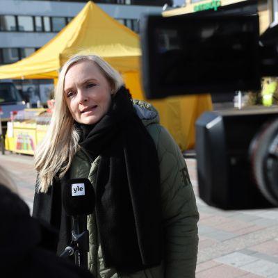 Sisäministeri Maria Ohisalo (vihr.) vieraili Seinäjoella perjantaina.