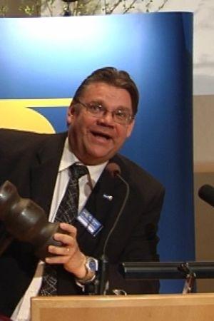 Sannfinländarnas ordförande vid partikongressen i Seinäjoki den 16 maj 2009.