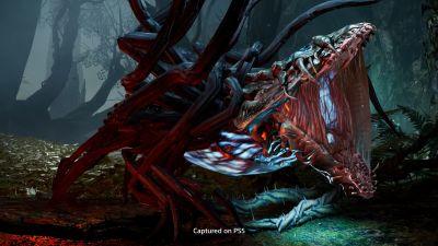 Ett monster gapar i ett videospel.