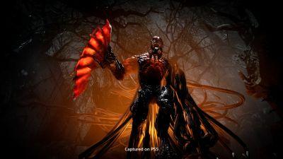 Ett människoliknande monster ser hotfullt ut i ett videospel.