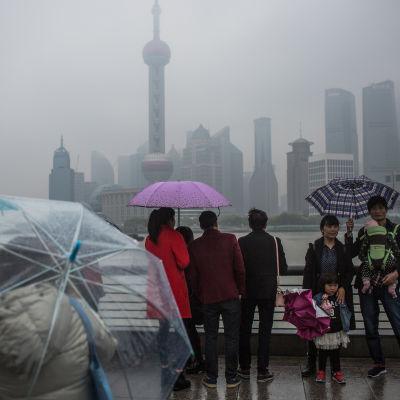 Shanghai i Kina i april 2017.