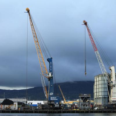 Hamnen i Belfast.