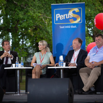 En bild från scenen på SuomiAreena.