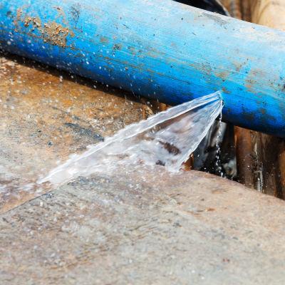 Vattenrör läcker