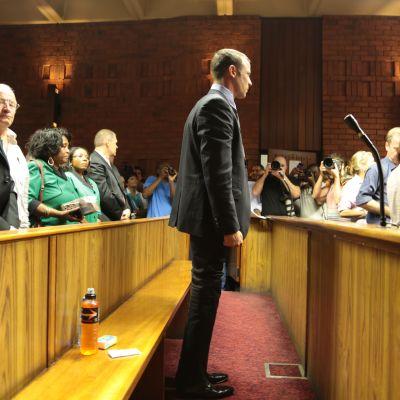 Oscar Pistorius i rätten.
