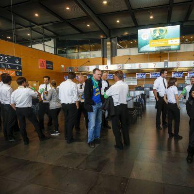 Piloter får strejkinformation på flygplats i Bryssel