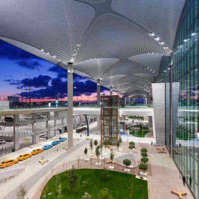 Den nya flygplatsen.