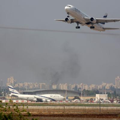 Ben Gurion flygplatsen i Tel Aviv.