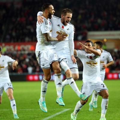 Swansea firar ett mål