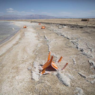 Vattennivån i Döda havet sjunker med en meter per år
