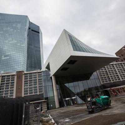 Europeiska centralbankens nya huvudbyggnad i Frankfurt