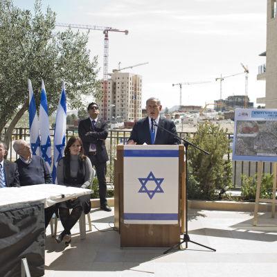 Benjamin Netanyahu - valkampanj i  Har Homa